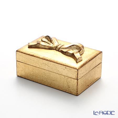 Firenze Tray, Rectangular Box Ribbon, Gold 8 x 12 cm