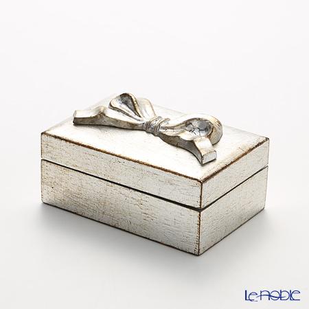 フィレンツェ 長方形ボックス シルバーリボン 8×12cm