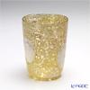 Venetian glass Prestige Murano Tumbler, gold/white-cirlce S1-3