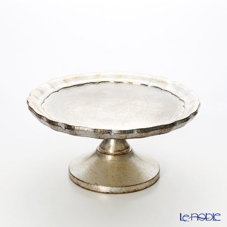 Florence tray cake stand 24 cm Silver (S).