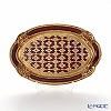 Oval Florentine tray 4019 / 0 Red/Gold 26 x 17.5 cm