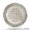 Florence tray round 3085 / 0 Silver/light blue 20 cm