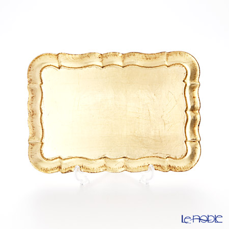 フィレンツェトレイ 長方形 3046/0 ゴールド 16×22.5cm