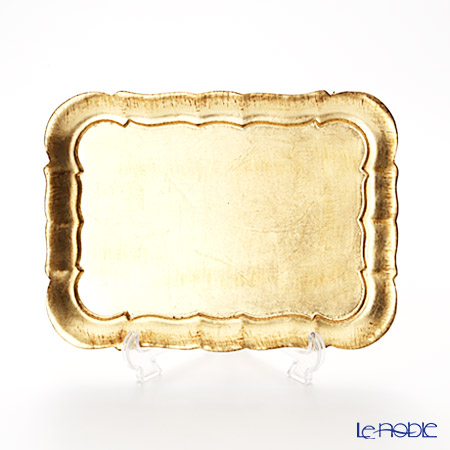 フィレンツェトレイ 長方形 3046/1 ゴールド 26×19cm