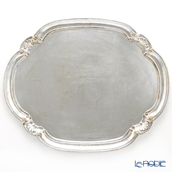 Florentine Wooden Crafts 'Silver' Oval Tray (Cloud shape) 51x41.5cm