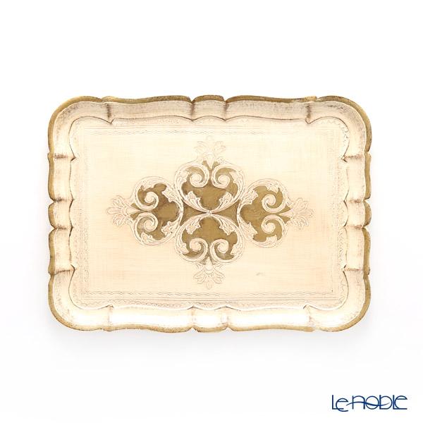 フィレンツェ トレイ 長方形 ホワイト×ゴールド 36×26.5cm 3046/3