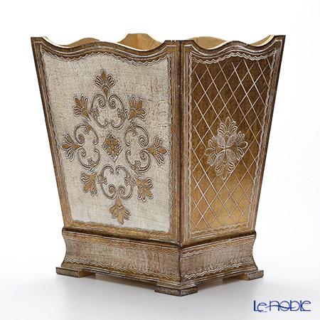 フィレンツェ ダストボックス 32401 ホワイト/ゴールド
