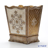 Florentine Wooden Crafts '32401' White & Gold Dust Box H30cm