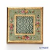 Florentine Wooden Crafts 3391 Light Green & Gold with Flower pattern Square Photo Frame 15cm