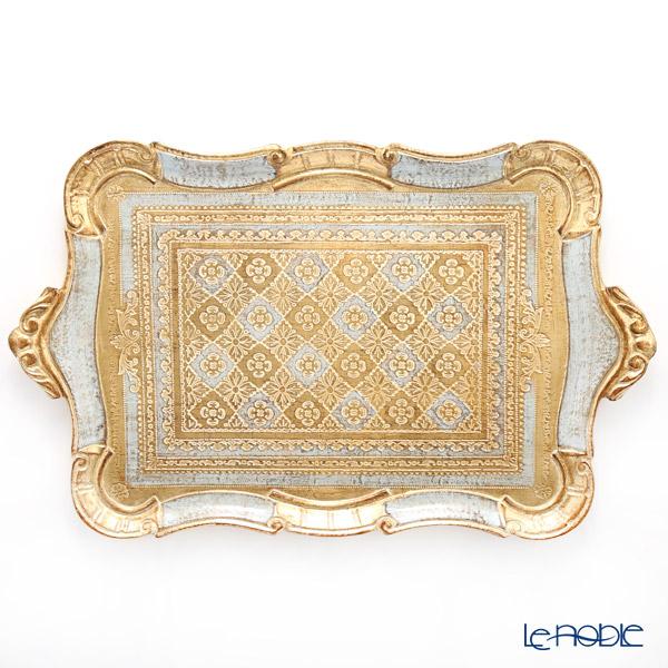 フィレンツェ トレイ 長方形 ライトブルー 30×49cm LP3049/4