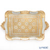 Florentine Wooden Crafts 'Light Blue & Gold' Rectangular Tray 49x30cm