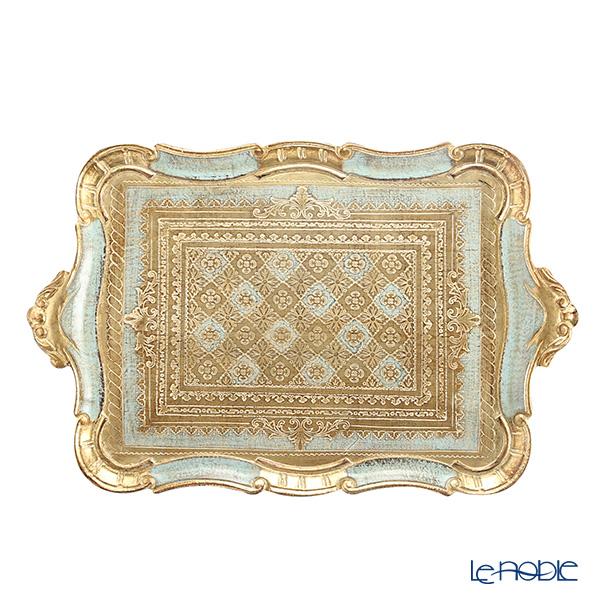 フィレンツェ トレイ 長方形 ターコイズ 36×55cm LP3049/5