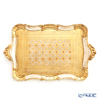 Florentine Wooden Crafts 'White & Gold' Rectangle Tray  49x30cm