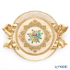 Florentine Wooden Crafts 'Pink & Gold Ribbon with Flower pattern' Round Tray 47x37.5cm