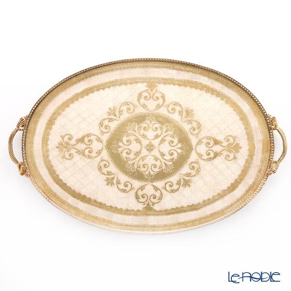 フィレンツェ トレイ オーバル ホワイトゴールド 50×80cm 99983