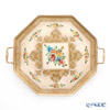 Florentine Wooden Crafts 'White & Gold with Flower pattern' Gallery Octagonal Trey 46.5x38.5cm