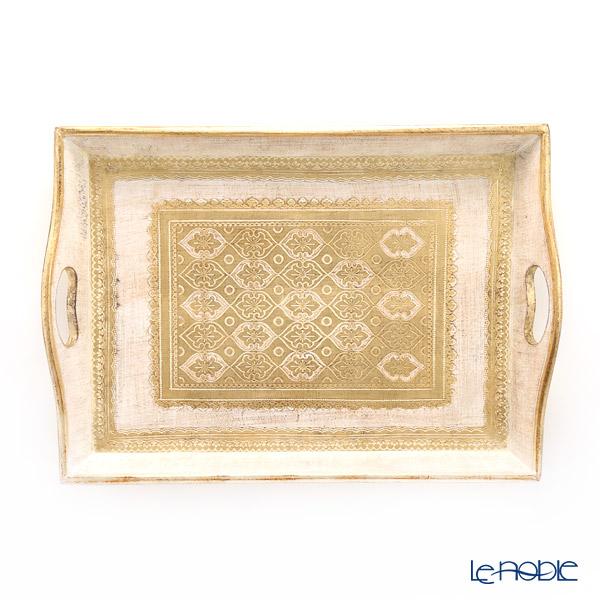 フィレンツェ トレイ 長方形 ホワイトゴールド 33×47cm RM/24