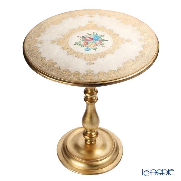 フィレンツェ ラウンドテーブル フラワー ホワイトゴールド 1010