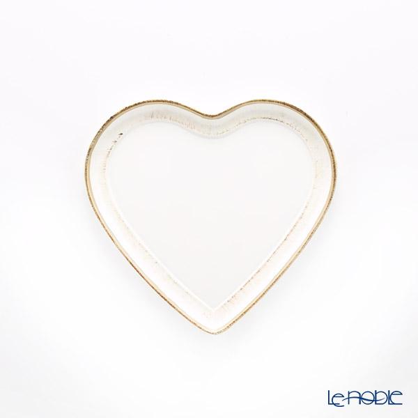 フィレンツェ トレイ ハート ホワイトゴールドライン 20×22cm 9901