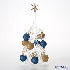 Soffieria Parise 'Blue & Gold' NN/2/1 (249) Christmas Tree Object H31cm (L)