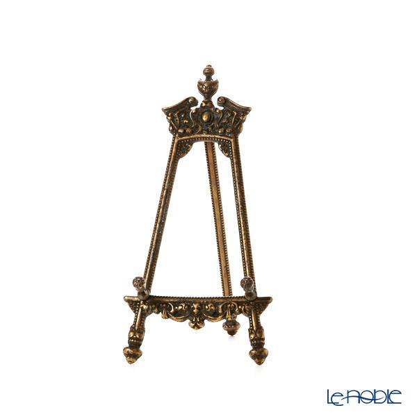 イタリア製 真鍮 プレートスタンド/イーゼル/皿立て M アンティークゴールド 12×25cm (プレート約14〜27cm用)131236
