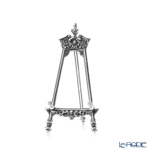 イタリア製 真鍮 プレートスタンド/イーゼル/皿立て M 銀メッキ 12×25cm (プレート約14〜27cm用)141236