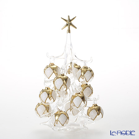 Soffieria Parise 'White & Gold' NN/4 (82) Christmas Tree Object H21cm (M)