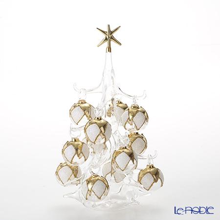 パリーゼ クリスマスツリー M 22cm NN/4(82) ホワイト&ゴールド