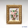 Capodimonte porcelain flower rectangular underframe Gold rose, 2798 5