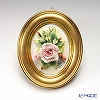 Capodimonte porcelain flower frame oval Gold rose / flower 176 / 11