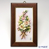 Capodimonte porcelain flower rectangular underframe 茶縁 rose 43. 04