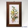 Capodimonte porcelain flower rectangular underframe 茶縁 rose / flower 44. 04