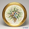 Capodimonte porcelain flower frame round Gold Orchid bouquet 1901 1-V /