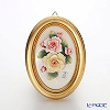 Capodimonte porcelain flower frame oval Gold rose 180T