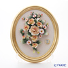 Capodimonte porcelain flower frame oval Gold-rimmed rose / flower 1101T