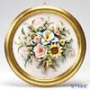 Capodimonte porcelain flower frame round Other Orchid / rose gold-rimmed 1901 / 2 V