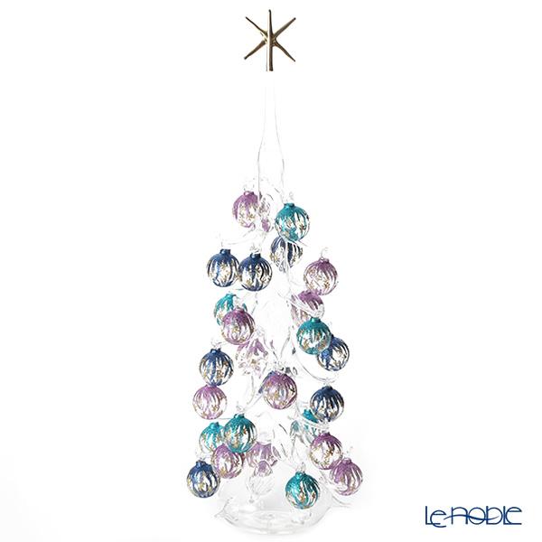 パリーゼ クリスマスツリー XL 68cm N/0(286) 紫&ターコイズ