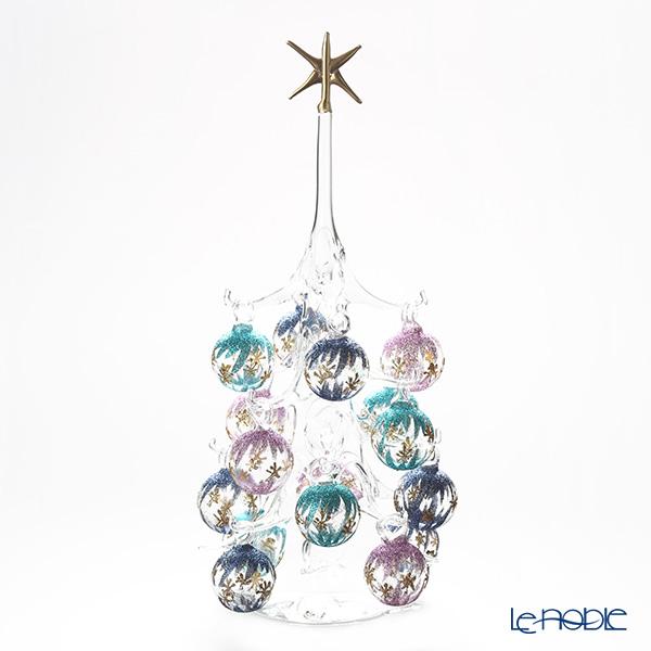 パリーゼ クリスマスツリー L H32cm NN/2/1(286) 紫&ターコイズ