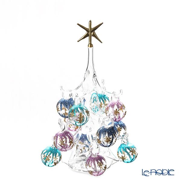 パリーゼ クリスマスツリー M H22cm NN/4/1(286) 紫&ターコイズ