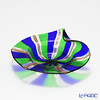 Campanella 'Stripe' Cobalt Blue / Green / Bronze Dish 13cm