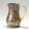 Campanella 'Millefiori / Thousand Flowers' Primary Multicolor & Gold foil Water Jug