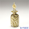Campanella 'Mosaic - Millefiori / Thousand Flowers' White & Gold foil Hexagonal Perfume Bottle (Leaf knob) H7cm