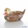 Campanella 'Millefiori / Thousand Flowers' Primary Multicolor & Gold foil Animal Figurine - Duck 15.5xH8cm (L)