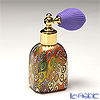 Campanella 'Millefiori / Thousand Flowers' Primary Multicolor & Gold foil Atomizer Square Perfume Bottle