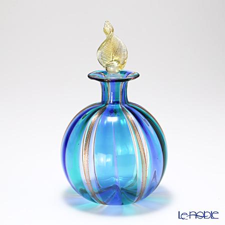 カンパネラ 香水瓶(L) ラウンド型 ブルー×ライトブルー(23 B05/B)