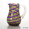 Campanella 'Rainbow Stripe' Multicolor & Gold Water Jug