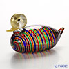 Campanella 'Rainbow Stripe' Multicolor & Gold Animal Figurine - Duck 17xH9cm (L)