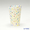 Campanella 'Millefiori / Thousand Flowers' White / Multicolor Dot & Gold foil Tumbler (S)