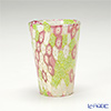 Campanella 'Millefiori / Thousand Flowers' Pink / Light Green / White & Gold foil Tumbler (S)