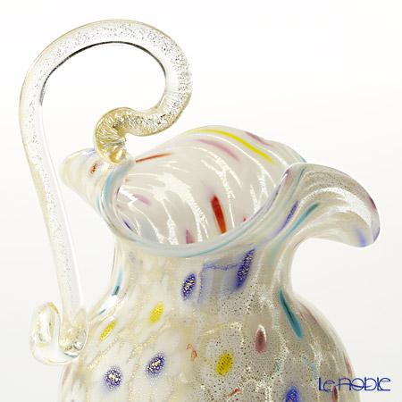 Campanella's blessing small jug ホワイトカラードットGold Millefiori ( 56 V05/E